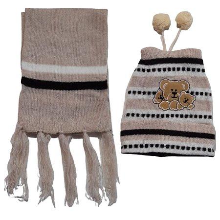 Kit De Inverno Infantil Touca e Cachecol CH5Y49LZD