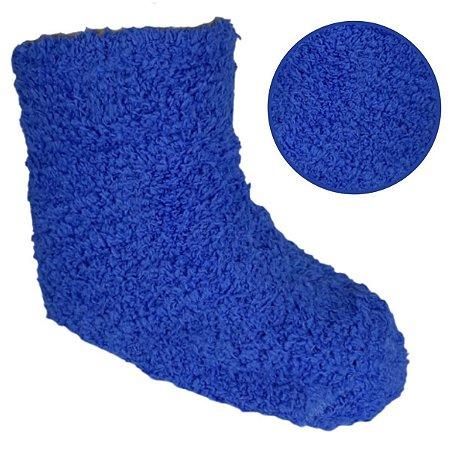 Kit Com 4 Meias Felpuda Infantil Azul 3-6 anos- Classe