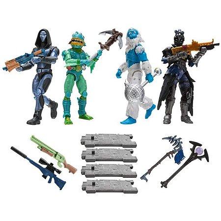 Boneco Fortnite 4 Figuras Squad Mode 16 Peças - Sunny
