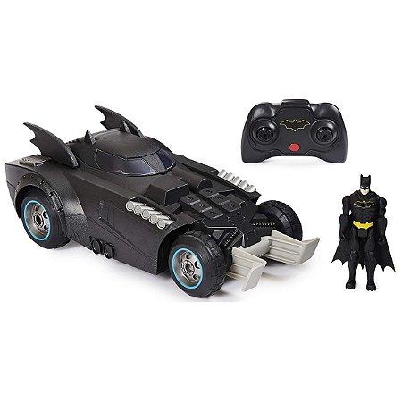 Veículo Batman DC Comics Com Controle Remoto Com Boneco - Sunny