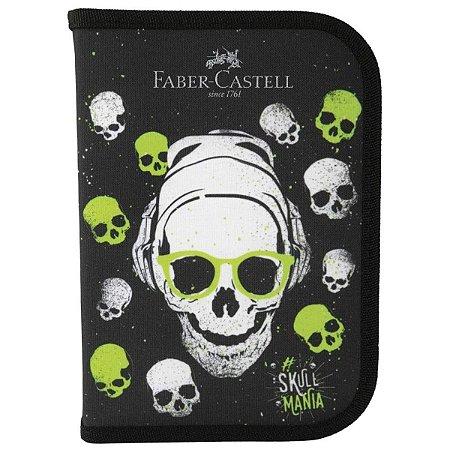 Estojo Escolar Com Kit Caveiras - Faber-Castell