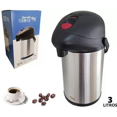 Garrafa Térmica Inox 3 Litros Chimarrão Café Inquebrável - A5