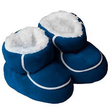 Pantufa Bebê Piccolo Forrada Navy Blue - Laço Slippers
