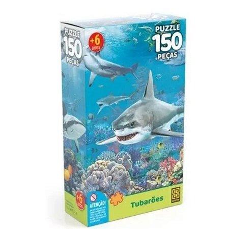 Quebra Cabeças Tubarões 150 Peças Grow Lançamento