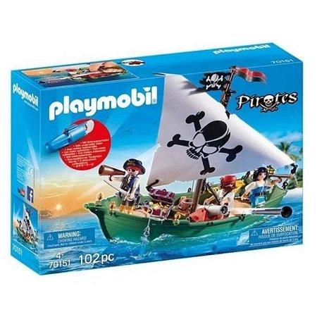 Playmobil Pirata 70151 - Navio Pirata Com Motor Subaquático