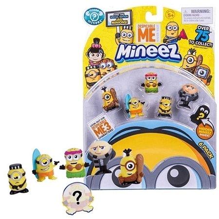 Kit Minions Com 6 Personagens - Mineez Minions Dtc