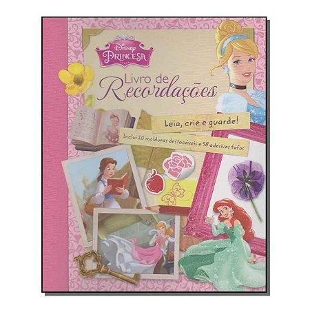 Disney Princesa Livro De Recordações Leia, Crie E Guarde