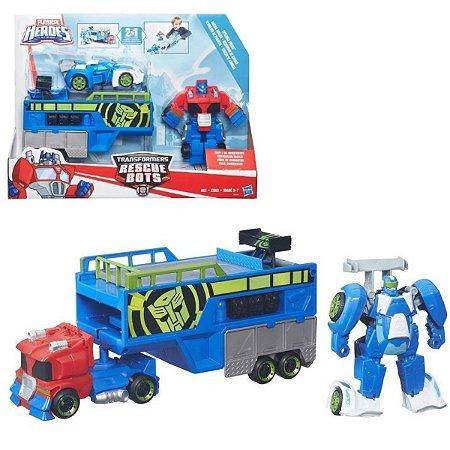Playskool Hero Optimus Transformers Rescue Bots - Hasbro
