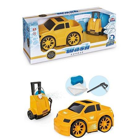 Carrinho Com Lava Rápido Wash Garage Pick-up Brinquedo