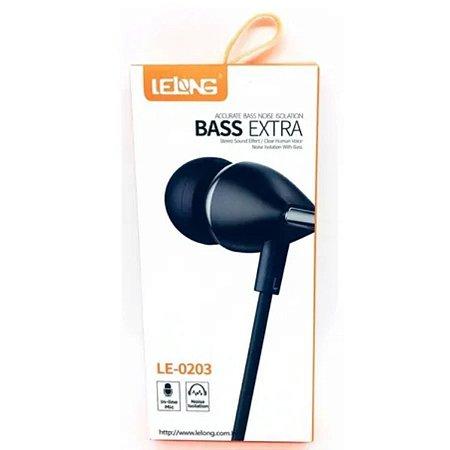 Fone De Ouvido Bass Extrale - Lelong