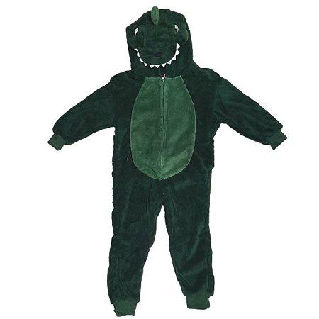 Pijama Macacão Juvenil Dinossauro 12 Ao 14 - Stuf
