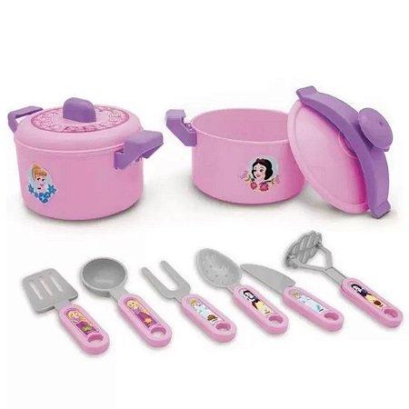 Jogo De Cozinha Infantil Com Panela De Pressão - Princesas Disney - Toyng