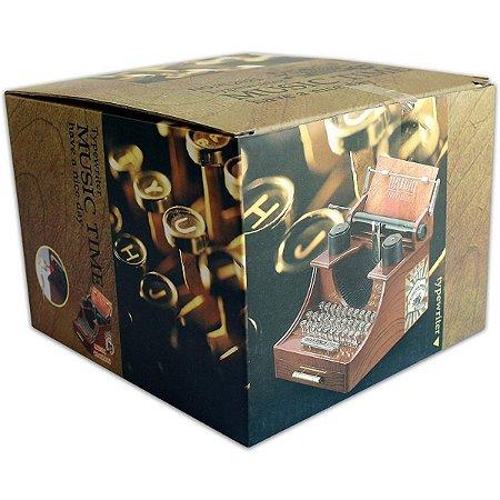 Caixa De Música Vintage Máquina De Escrever