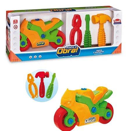 Moto De Brinquedo Monta E Desmonta Didático Usual Brinquedos