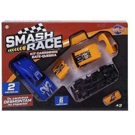 Brinquedo Kit Carrinhos Bate E Quebra Smash Race Toyng 41843