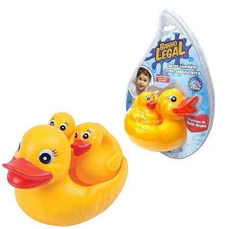 Brinquedo Pato De Borracha Para Banho Bebês Pata + Patinhos