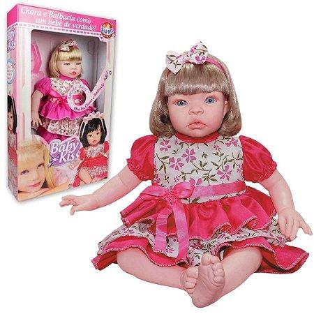 Boneca Baby Kiss Loira - SidNyl