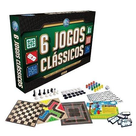 Jogos Clássicos 6 Em 1,Dama Xadrez Ludo Forca e Dominó  2759