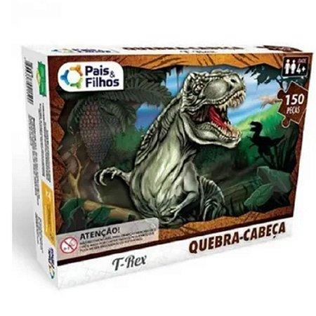 Quebra Cabeça T- Rex 150 Peças - Pais E Filhos