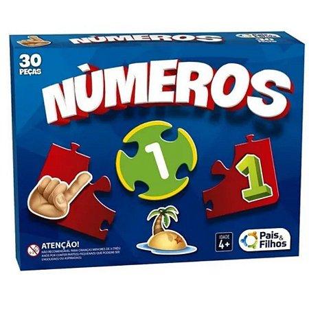 Jogo Brincar De Aprender Numeros 30 Pcs - Escolar
