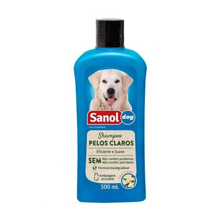 Shampoo Pelos Claros Sanol Dog 500 ml
