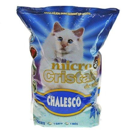 Areia Sanitária para Gatos - Chalesco Micro Cristais de Sílica 1.8 kg
