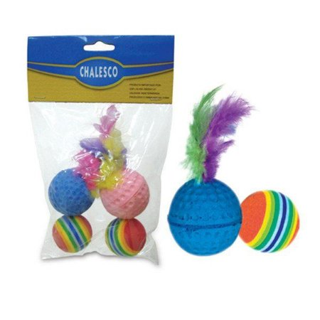 Kit De Bolas Catnip Colorido Chalesco
