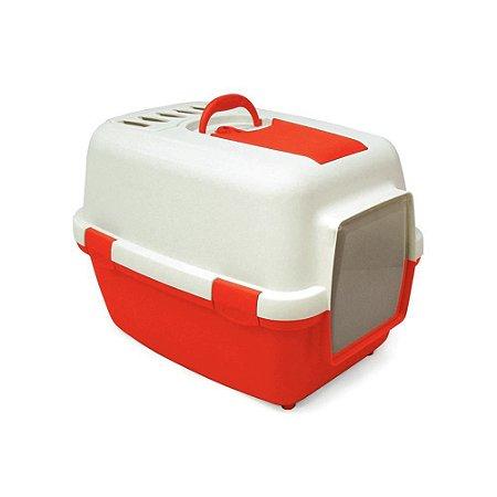 Banheiro Cat Toillete Chalesco  - Cor Vermelho com Branco