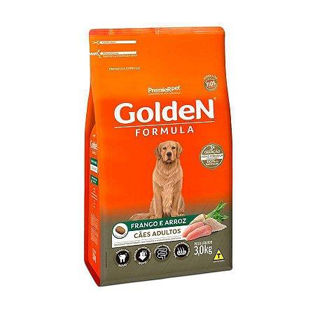 Golden Fórmula para Cães Adultos Sabor Frango e Arroz 3kg