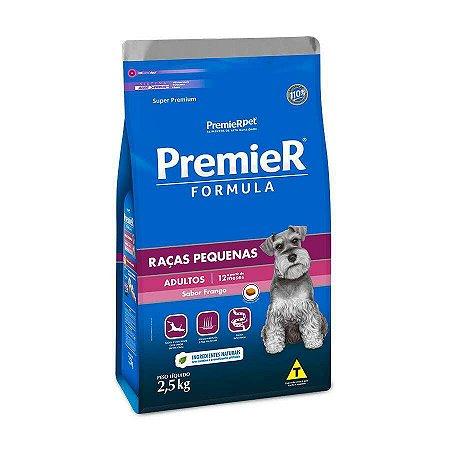 Premier Fórmula Cães Adultos de Raças Pequenas Sabor Frango 2,5kg