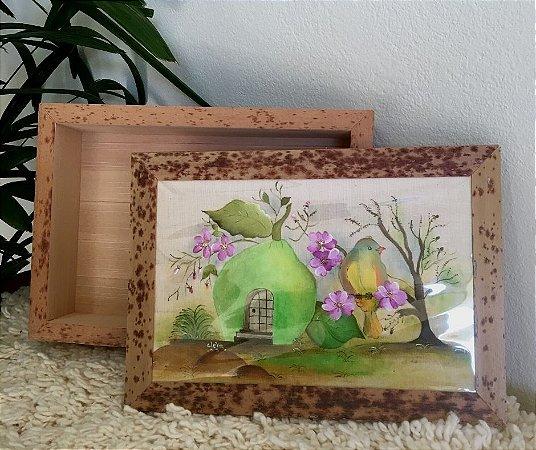 Caixa de Buriti com Tampa em Pintura