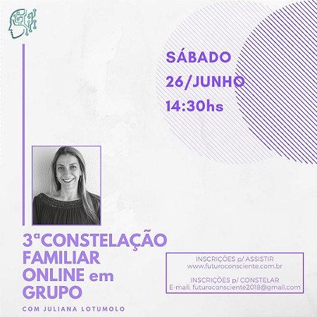 """3ª CONSTELAÇÃO FAMILIAR ONLINE em GRUPO - """"INSCRIÇÃO SOMENTE PARA ASSISTIR"""""""