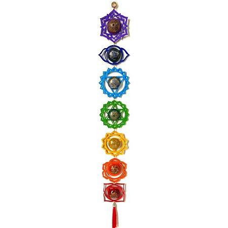 MOBILE DOS 7 CHAKRAS - Aprox. 9 cm de largura x 72 cm de comprimento