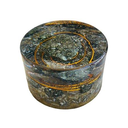 ORGONITE - GRANADA DE PIRITA - Ø 5,5 CM X 3 CM