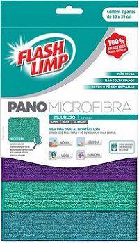 Pano - Microfibra Multiuso - Kit com 3