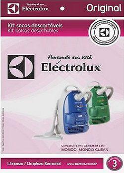 Sacos descartáveis para aspirador de pó Electrolux - Mondo e Mondo Clean