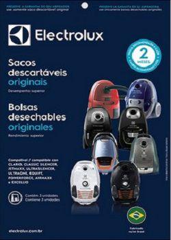 Sacos descartáveis para aspirador de pó Electrolux - Clario, Classic Silencer, Jetmaxx, Ultrasilencer, Ultraone, Equipt, Powerforce, Airmaxx e Excellio