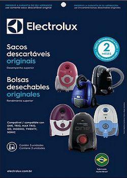 Sacos descartáveis para aspirador de pó Electrolux - One, Trio, Max Trio, Go!, Ingenio, Twenty e Sonic