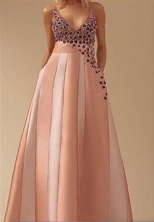 Vestido Longo Rose M Rodarte