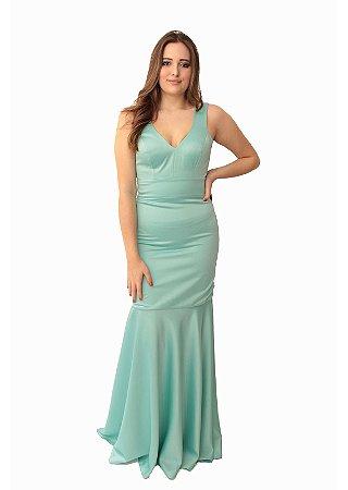 Vestido Longo L'or Azul Piscina