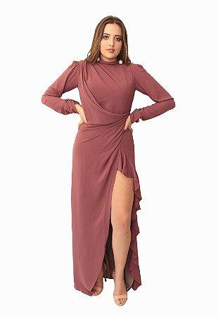 Vestido Longo Rosa Queimado Ellizabeth Marques