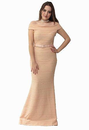 Vestido Longo Rose Bandagem L'or