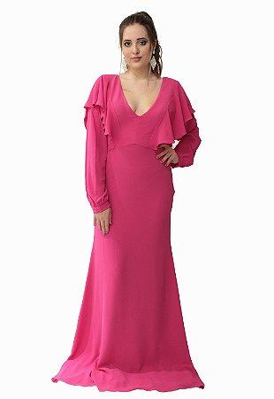 Vestido Longo Pink Ellizabeth Marques