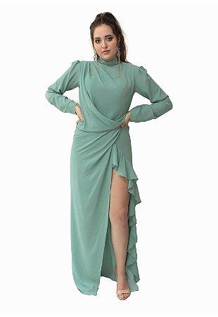 Vestido Longo Verde Ellizabeth Marques