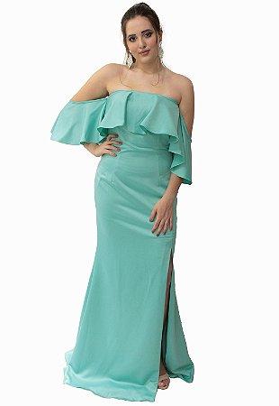 Vestido Longo Azul Piscina L'or
