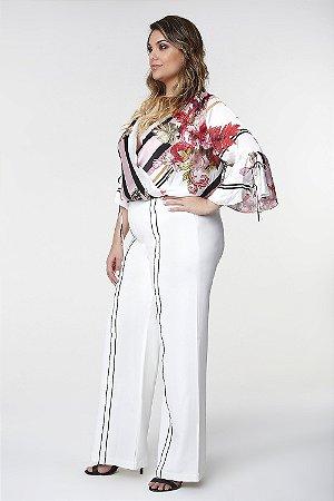 Body Branco Floral