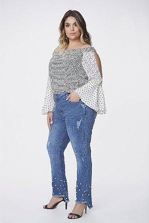 Calça Capri Jeans Plus Size