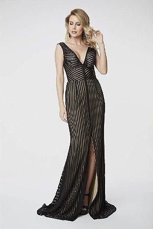 Vestido Longo  Fleche D´or Preto
