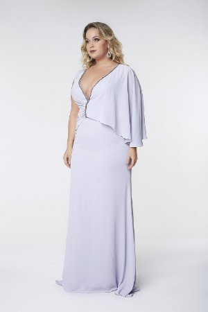 Vestido Longo Plus Size Lilás