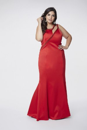 Vestido Longo Plus Size Vermelho